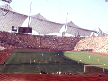 Im Münchner Olympiastadion bei den Olympischen Spielen 1972