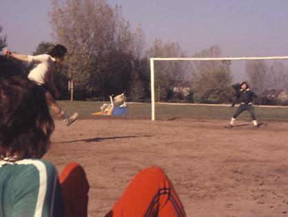 Fußballtraining des FC Hilde in der Fasanerie