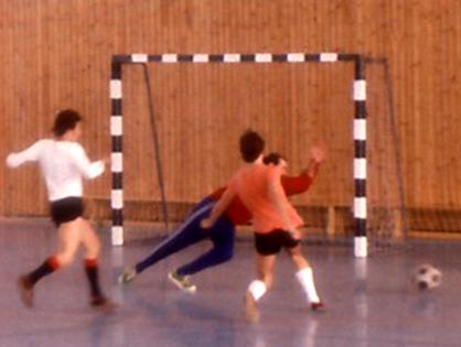 Torszene des FC Hilde beim Hallenturnier 1976